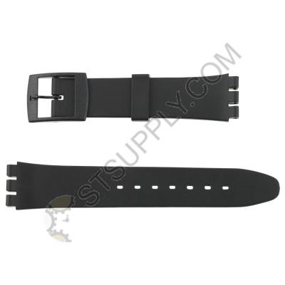 17mm Black Sportstrap Swatch