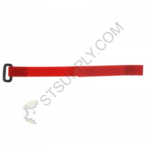 12mm Red Velcro Strap w/ Buckle
