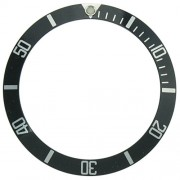 Black/Silver Bezel Insert for Rolex No-Date Submariner