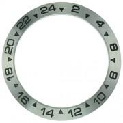 Generic Silver/Black Bezel Insert for Rolex Explorer II