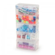 "STACKABLE PLASTIC 3.33""x1.75""x1.33"" BOX"