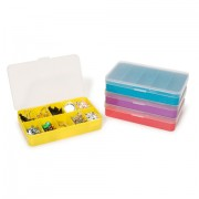 "5 COMPARTMENTS 5.5""x3.5"" PLASTIC ASSORTMENT BOX"