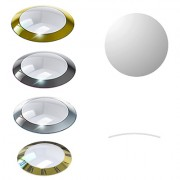 Concave Round Glass Crystal with Trim