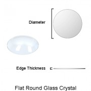 Flat Round Glass Crystal (0.80 - 1.20 mm thick)