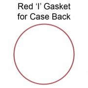 Red 'I' Gasket for Case Back