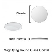 Single Domed Round Glass Crystal