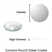 Double Domed Round Glass Crystal
