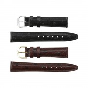 Dotted Ostrich Grain Leather Band