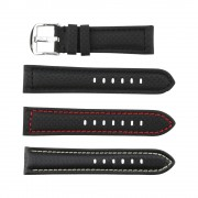 Carbon Fiber Watch Band with Stitching