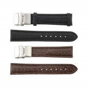 Oil Shrunk Genuine Leather Band with Deployment Buckle