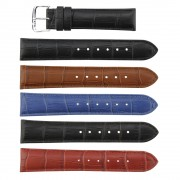 Padded Alligator Grain Genuine Leather Band