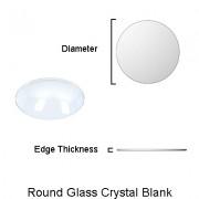 Round Glass Crystal Blanks